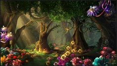 Pin by ❀⊱•𝕯𝖆𝖓𝖓𝖊𝖞 𝕯𝖔𝖓𝖔𝖛𝖆𝖓•⊰❀ on Enchanted Forest Fairy mural Fantasy art landscapes Beautiful images nature