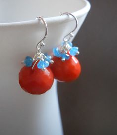 *You Say Tomato*  Earrings... Nice orange red, HOT color for 2012 http://www.etsy.com/listing/95315657/you-say-tomato-earrings