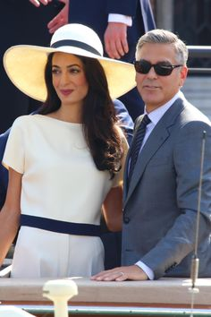 George Clooney married Amal Alamuddin on Saturday September 27 in front of his family and friends at the Aman Canal Grande in Venice, Italy. On the following Monday, September 29, the actor and his human rights lawyer bride tied the knot legally in a civil ceremony. Alamuddin, 36, wore an Oscar de La Renta gown, and the groom, 53, wore Armani. They wed in front of celebrity guests including Matt Damon, Cindy Crawford, Bono and Anna Wintour.