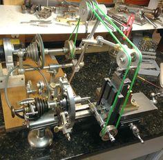 Watchmakers lathe, Mowrer ww lathe tools, lathe countershaft, lathe drive pulleys, lathe PTO