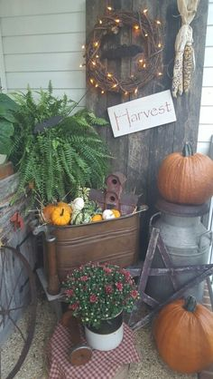 Fall on the porch..