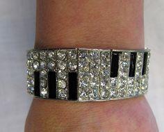 Piano keyboard bling bracelet