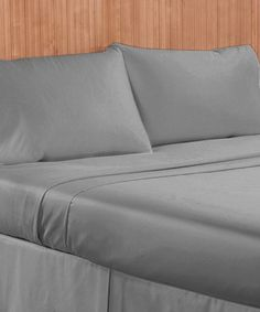 Another great find on #zulily! Silver 1000-Thread Count Four-Piece Sheet Set by Grace Home Fashions #zulilyfinds
