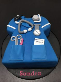View our gallery of beautiful bespoke celebration cakes, wedding cakes, birthday and cupcakes. Contact Sweet Cake Bites to order yours. Nursing Graduation Cakes, Nursing Party, Nurse Grad Parties, Medical Cake, Doctor Cake, 60th Birthday Cakes, 50th Cake, Retirement Cakes, Retirement Ideas