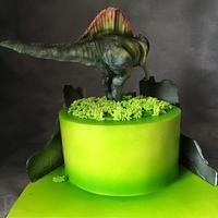 Spinosaurus cake for Daniel. Chocolate cake with blueberries. Dinosaur Birthday Cakes, Dinosaur Party, 4th Birthday, Spinosaurus, Chocolate Ganache, Blueberries, Cake Decorating, Dinosaurs, Cakes