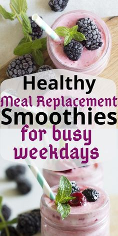 Healthy banana meal replacement smoothie recipes to help you eat healthy easily on busy mornings. If you are looking for smoothies that are filling , then this is the answer. Weight Loss Meals, Weight Loss Smoothies, Detox Recipes, Smoothie Recipes, Detox Meals, Smoothie Cleanse, Smoothie King, Milkshake Recipes, Healthy Detox