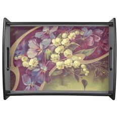 """Vintage Flowers"" Serving Tray"