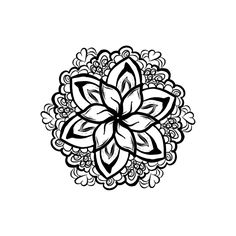 Project 68 | Floral Zentangle | Bohemian Bear Embroidery Hoop Collection | Adult Coloring Book
