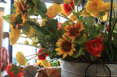 www.thefarmersdaughtersunvalley.com  Fake flowers don't have to be fake