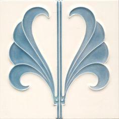 Wall tile ornament Art Nouveau THORNFLOWER« von Replicata -  - Replikate