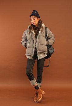 Frayed Folded Cuff Jeans | STYLENANDA