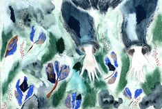 Leaves falling #sestina #illustration #collage #watercolour