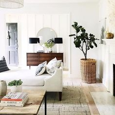White and Bright Living Room Inspiration