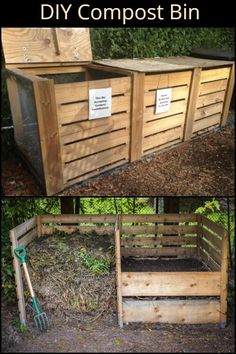 building your own compost bin you're not only making your garden and produce happy, but the environment as well.By building your own compost bin you're not only making your garden and produce happy, but the environment as well. Garden Care, Eco Garden, Night Garden, Herbs Garden, Diy Garden Projects, Diy Garden Decor, Diy Garden Fence, Outdoor Projects, Pallet Projects
