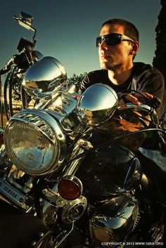 Biker Man Portrait  Motorcycle Lifestyles by Dimitar Hristov (54ka)