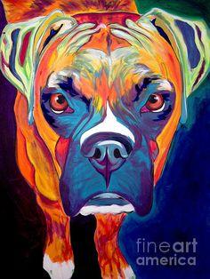 Boxer Dog Art
