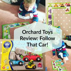 Review of Follow that car! from Orchard Toys. A fab game for preschoolers that covers all kinds of skills from colour recognition to strategic thinking and patterns. Click for full review.