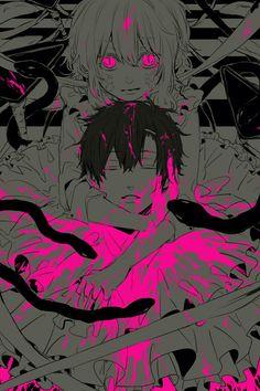 Mary Kozakura & the Snake of Clearing Eyes Manga Anime, Anime Art, Yandere Girl, Pink Blood, Animes To Watch, Emo Art, Kagerou Project, Manhwa, Anime Fantasy