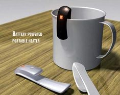 Battery-powered portable heater