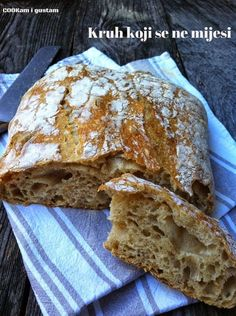 COOKam i guštam: Kruh koji se ne mijesi Pound Cake Recipes, Bread Recipes, Cooking Recipes, Kiflice Recipe, Bread Dough Recipe, Croatian Recipes, Bakery Recipes, Artisan Bread, Sweet And Salty