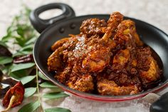 Chicken ghee roast is a very popular Mangalorean dish and is an absolute delight to eat. Rice is cooked in various forms such as pancakes, wafer thin rice rottis served with chicken curry, grain rice, sannas i Indian Food Recipes, My Recipes, Cooking Recipes, Roast Recipes, Curry Recipes, Kashmiri Recipes, Kerala Recipes, Indian Foods, Recipe Sites