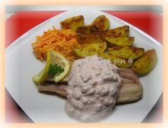 Matjes mit Meerrettichdipp & Ofenkartoffeln