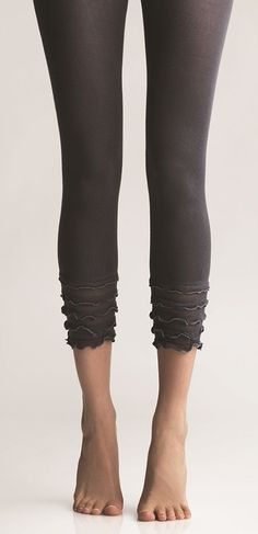 Ruffled leggings.  Cute for those Spring outfits.