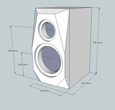 Hifi Speakers, Bookshelf Speakers, Built In Speakers, Hifi Audio, Diy Subwoofer, Subwoofer Box Design, Speaker Box Design, Audio Design, Woodworking Joints