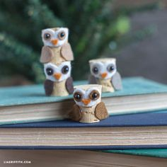 Lovers of pinecones crafts will adore our felt pinecone fox, squirrel and owl. Designs and patterns by handcrafted lifestyle expert Lia Griffith.