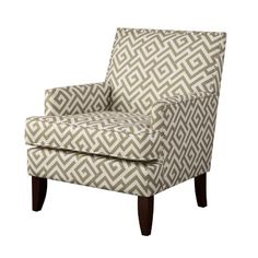 The Madison Park Colton Track Arm Club Chair injects a charming new spin on classic living room furniture. With its sleek contemporary lines, exposed wood legs and nailhead trim, this chair is destined to be a stylish mainstay in your home. Chair Bed, Wing Chair, Living Room Arrangements, Classic Living Room, Exposed Wood, Cozy Place, Accent Furniture, Striped Furniture, Living Room Chairs