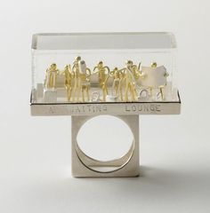 """Waiting Lounge"" ~ Ring by Asagi Maeda (Silver, gold, plexiglass)"