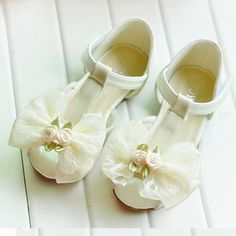 Flower Pageant Girl White Patent Leather Summer Wedding Shoes Sandals SKU-133035