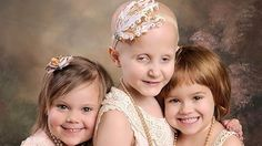 Three little girls re-create viral photo to celebrate cancer remission