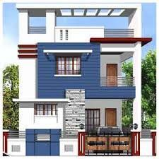 elevations of residential buildings in indian photo gallery Building Elevation, House Elevation, House Front Design, Modern House Design, Door Design, Modern Bungalow Exterior, Front Elevation Designs, Independent House, Dream House Plans