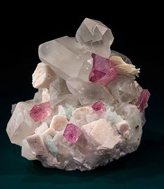 Rubellite, Quartz, Mica, Orthoclase and Cleavelandite - Pyingyi Taung (Pyin Gyi Taung), Male, Singu Township, Pyin-Oo-Lwin District, Mandalay Division, Myanmar