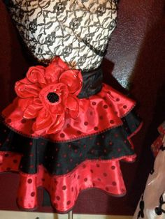Poppy Dot Red Couture Apron by Trish Vernazza by VisionsofVenus, $60.00