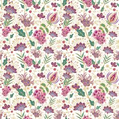 Floral pattern fabric by dariara on Spoonflower - custom fabric