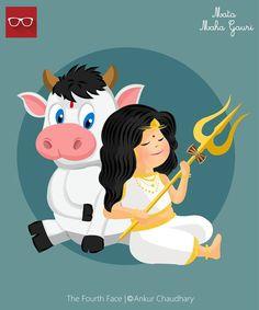 Maha Gauri avatar of Goddess Durga Indian Goddess, Durga Goddess, Durga Maa, Shiva Shakti, Durga Painting, Navratri Images, Durga Images, Lord Murugan, Happy Navratri