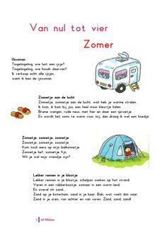 Liedjespagina: Zomer Camping Thema, Jaba, Kindergarten, Summer, Summer Time, Kindergartens, Preschool, Preschools, Pre K