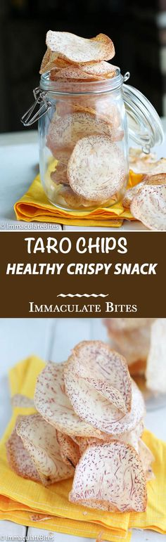 Are you tired of the same old potato chips? Then transport your self to the tropics with these taro chips and give your taste bud a jolt.