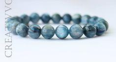 Grade A Blue Kyanite bracelet - 8 mm, Natural Kyanite Bracelet, Reiki Bracelet, Chakra Bracelet, Beaded Bracelet, Mens Bracelet, Unisex by Creativvo on Etsy