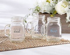 Personalized Baby Shower Mini Mason Shot Glass | My Wedding Favors