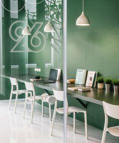 phongphat ueasangkhomset green 26 office interior designboom Corporate Design, Corporate Interiors, Office Interiors, Cafe Interior, Office Interior Design, Best Interior, Office Images, Green Office, Workspace Design