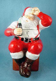 Which Coca-Cola Cookie Jar Is Your Collection Missing? Coca Cola Santa, Coca Cola Christmas, Christmas Cookie Jars, Coke Santa, Christmas Dishes, Merry Christmas, Santa Cookies, Cute Cookies, Vintage Coke