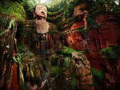 """Big Buddha China"" by Suchet Suwanmongkol.  Located in Leshan (China), a prefecture-level city located at the confluence of the Dadu and Min rivers in Sichuan Province."