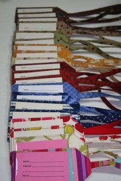 MJ's bag tag from I Have a Notion.blogspot.com (diaper bag tag)