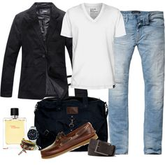 """Jeans & Blazer for men"" by marta-cercols on Polyvore"