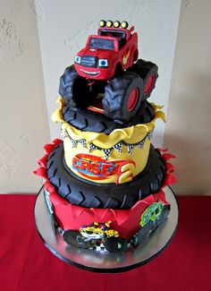 "Delectable Cakes: ""Blaze and the Monster Machine's"" birthday cake"