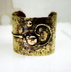 Brass Cuff Cuff Bracelet Wide Bracelet Handcrafted by jihidesigns