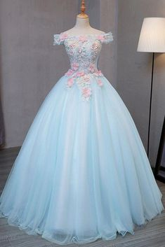 Light Blue Off Shoulder Tulle Princess Sweet 16 Dresses, Gorgeous Blue – BeMyB. Light Blue Off Shoulder Tulle Princess Sweet 16 Dresses, Gorgeous Blue – BeMyB… Light Blue Off Shoulder Tulle Princess Sweet 16 Dresses, Gorgeous Blue – BeMyBridesmaid Ball Gowns Prom, Ball Dresses, Dresses Dresses, Flower Dresses, Formal Dresses, Long Prom Gowns, Prom Long, Short Prom, Party Gowns